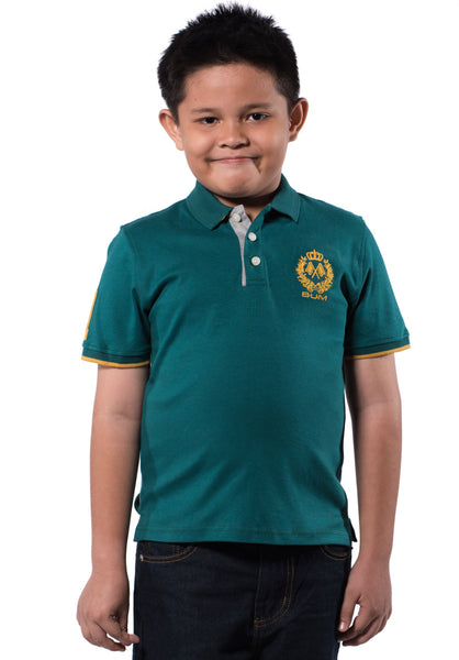 B.U.M Equipment Children POLO TEE (MD GREEN)