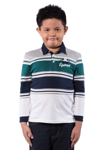 B.U.M Equipment Children POLO TEE-L/S (MD GREEN)