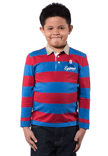 B.U.M Equipment Children POLO TEE-L/S (MD RED)