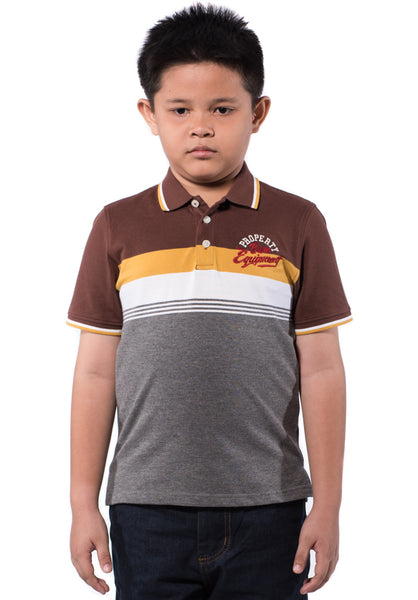B.U.M Equipment Children POLO TEE-S/S (MD BROWN)