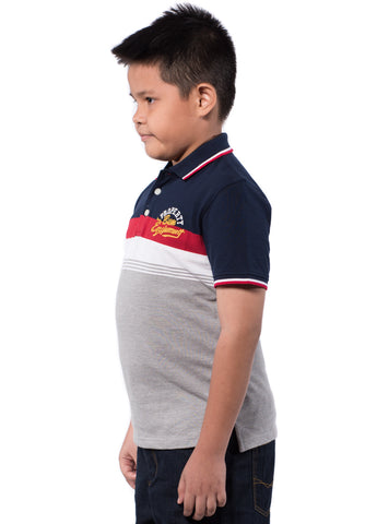 B.U.M Equipment Children POLO TEE-S/S (MD NAVY)