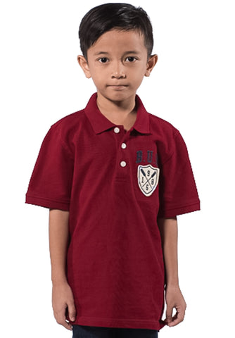 B.U.M Equipment Children POLO-S/S (MD RED)