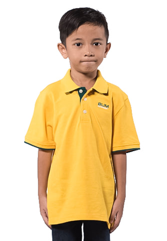 B.U.M Equipment Children POLO-S/S (MD YELLOW)