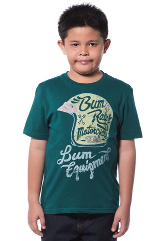 B.U.M Equipment Children Round Neck S/S (DK GREEN)
