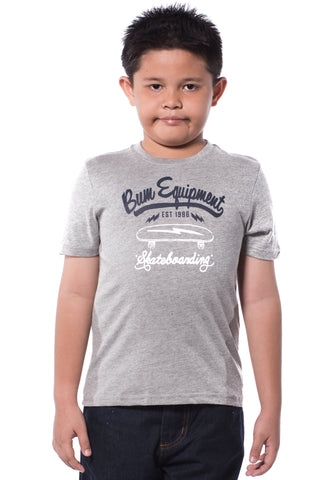 B.U.M Equipment Children Round Neck S/S (LT GREY)