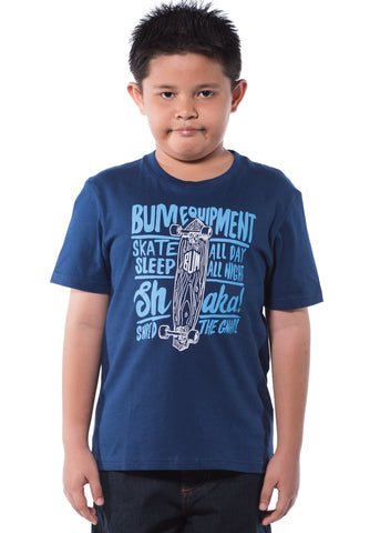 B.U.M Equipment Children Round Neck S/S (MD NAVY)
