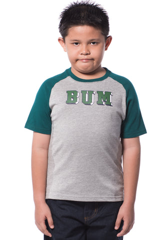 B.U.M Equipment Children Round Neck S/S (DK GREY)