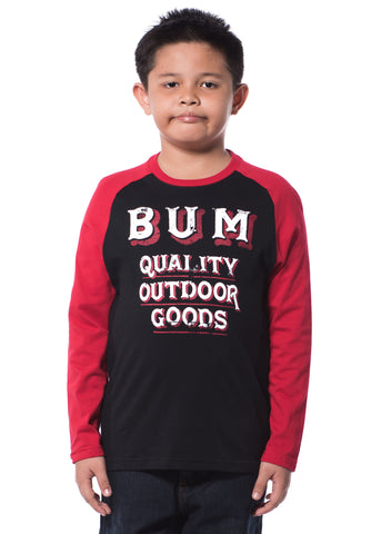 B.U.M Equipment Children Round Neck L/S (MD BLACK)