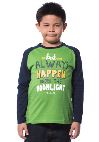 B.U.M Equipment Children Round Neck L/S (MD GREEN)