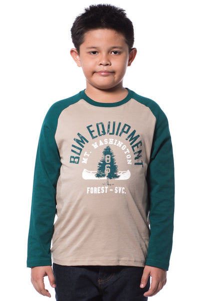 B.U.M Equipment Children Round Neck L/S (MD KHAKI)