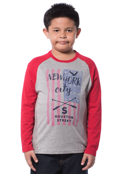 B.U.M Equipment Children Round Neck L/S (DK GREY)