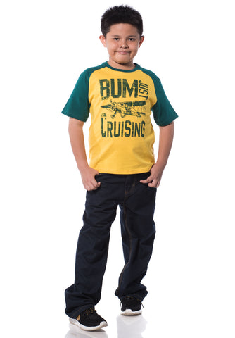B.U.M Equipment Children Round Neck S/S (MD YELLOW)