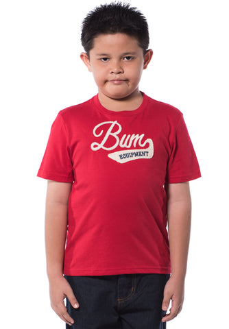 B.U.M Equipment Children Round Neck Tee S/S (MD RED)