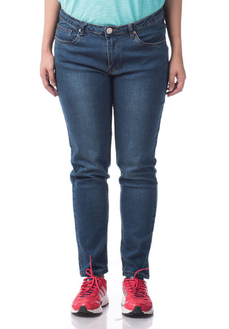 B.U.M Equipment Ladies Jeans-Straight (DK BLUE)