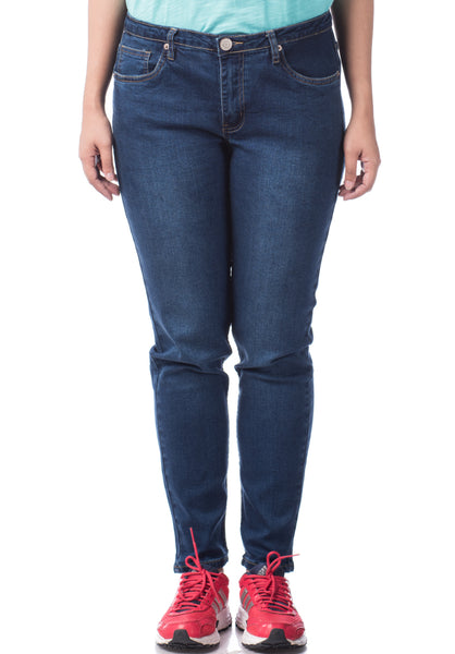 B.U.M Equipment Ladies Jeans-Slim (MD BLUE)