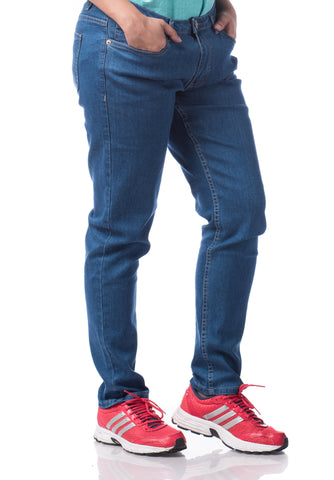 B.U.M Equipment Ladies Jeans-Slim (DK BLUE)