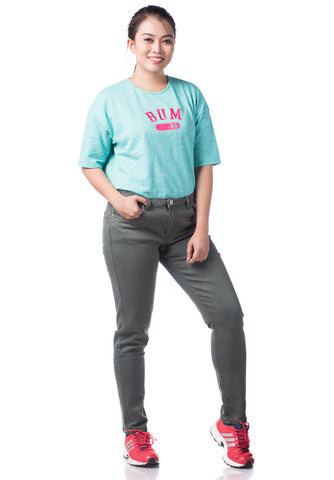 B.U.M Equipment Ladies Jeans-Slim (DK GREY)