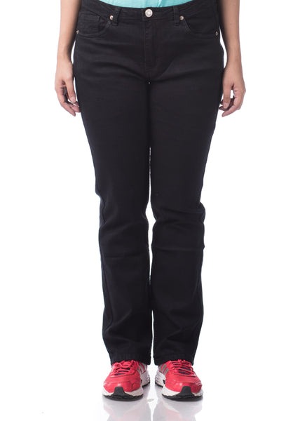 B.U.M Equipment Ladies Jeans-Straight (MD BLACK)