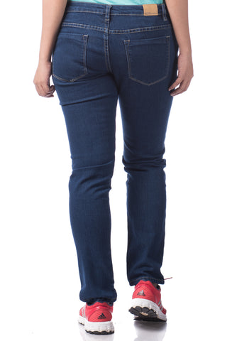 B.U.M Equipment Ladies Jeans-Slim Cut (MD BLUE)