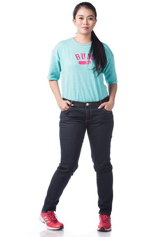 B.U.M Equipment Ladies Jeans-Slim Cut (MD NAVY)