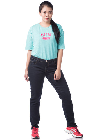 B.U.M Equipment Ladies Jeans-Slim Cut (DK BLUE)