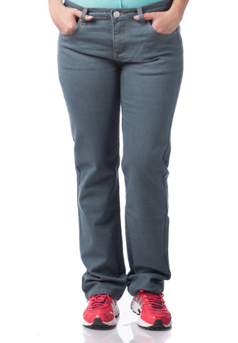 B.U.M Equipment Ladies Jeans-Straight Cut (MD GREY)