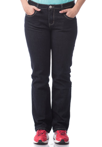 B.U.M Equipment Ladies Jeans-Straight Cut (MD BLACK)