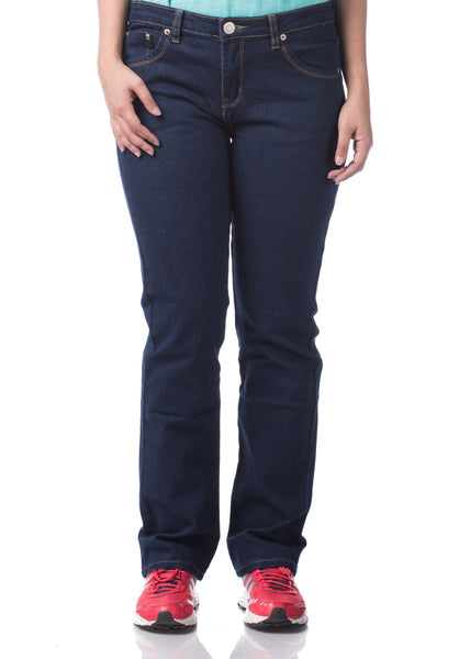 B.U.M Equipment Ladies Jeans-Straight Cut (DK BLUE)