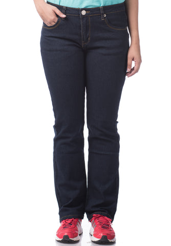 B.U.M Equipment Ladies Jeans-Straight Cut (MD NAVY)