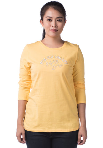 B.U.M Equipment Ladies Round Neck Tee S/S (MD YELLOW)