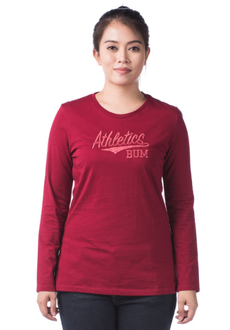 B.U.M Equipment Ladies Round Neck Tee S/S (DK RED)