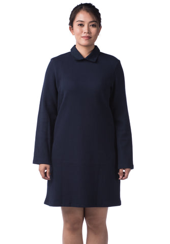 B.U.M Equipment Ladies Dress L/S (MD NAVY)