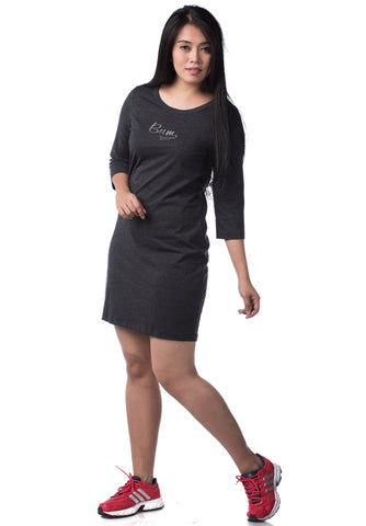 B.U.M Equipment Ladies Dress-3/4 Sleeve (DK GREY)