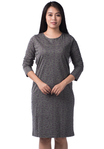 B.U.M Equipment Ladies Dress L/S (DK GREY)