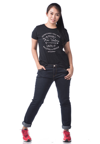 B.U.M Equipment Ladies Round Neck Tee S/S (MD BLACK)