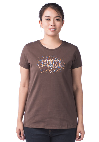 B.U.M Equipment Ladies Round Neck Tee S/S (MD BROWN)