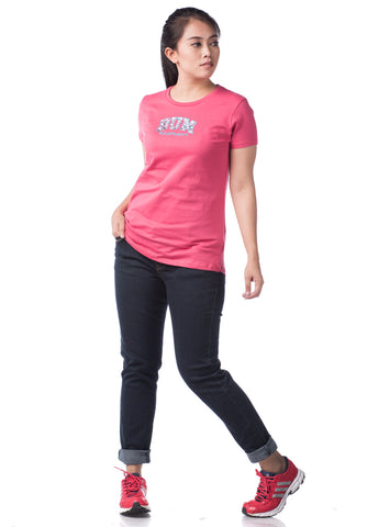 B.U.M Equipment Ladies Round Neck Tee S/S (DK PINK)