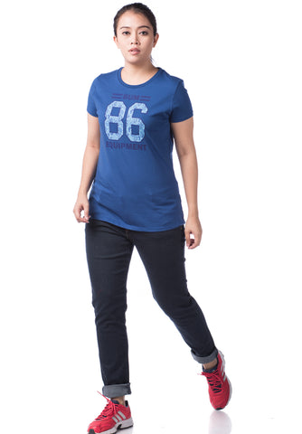B.U.M Equipment Ladies Round Neck Tee S/S (DK BLUE)