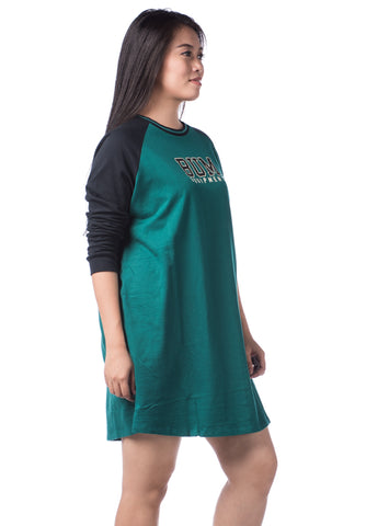B.U.M Equipment Ladies Dress L/S (DK GREEN)