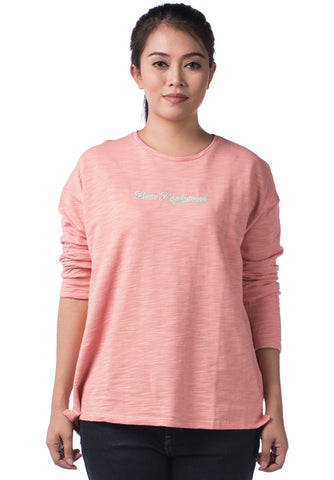 B.U.M Equipment Ladies Round Neck Tee L/S (LT PINK)