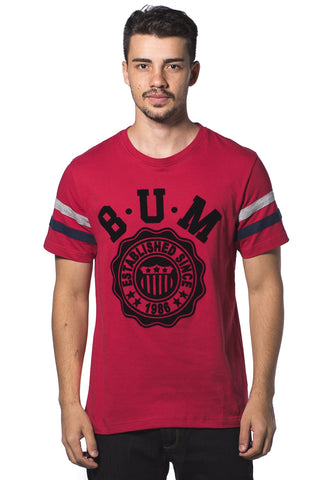 B.U.M Equipment Men Round Neck Tee (MD. RED)