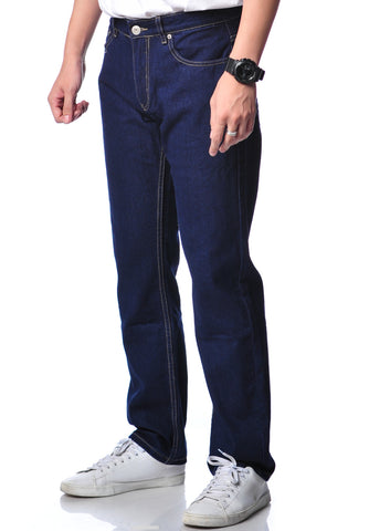 B.U.M Equipment Men Jeans-Regular (DK BLUE)