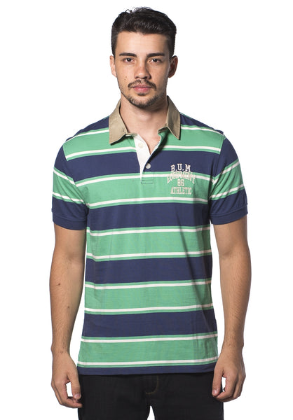 B.U.M Equipment Men Polo Tee (MD. GREEN)