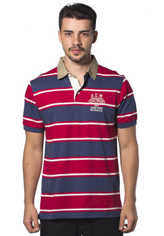B.U.M Equipment Men Polo Tee (MD. RED)