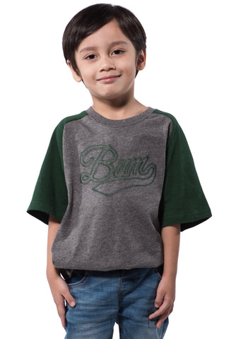 B.U.M Equipment Children Round Neck Tee S/S (MD GREY)