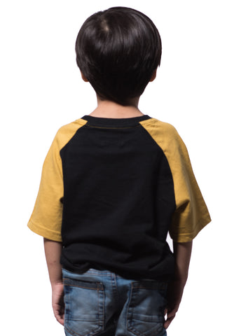 B.U.M Equipment Children Round Neck Tee S/S (DK BLACK)