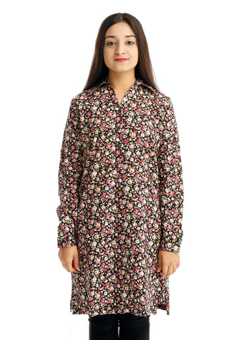 B.U.M Equipment Ladies Woven Dress L/S (MD BLACK)