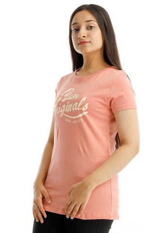 B.U.M Equipment Ladies Round Neck-Raglan S/S (MD PEACH)