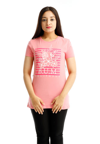 B.U.M Equipment Ladies Round Neck Tee S/S (PINK)