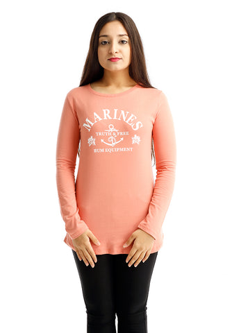 B.U.M Equipment Ladies Round Neck-Raglan L/S (MD PEACH)